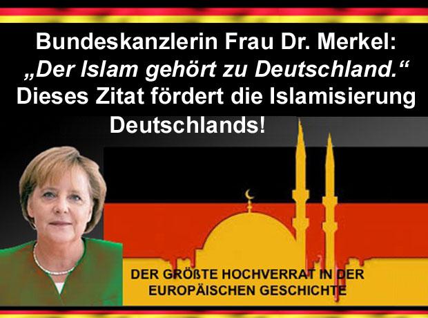 Bundeskanzlerin Frau Dr Merkel Der Islam Gehört Zu