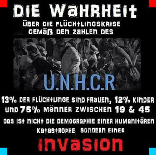 Bildergebnis für un bericht 3 von 100 flüchtlinge